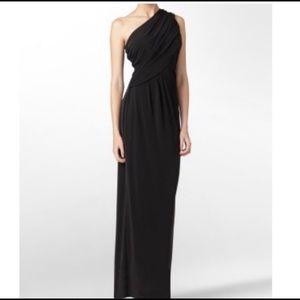 Calvin Klein One Shoulder Draped Gown